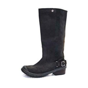 Sorel slimboot tall boots zip up leather womens sh